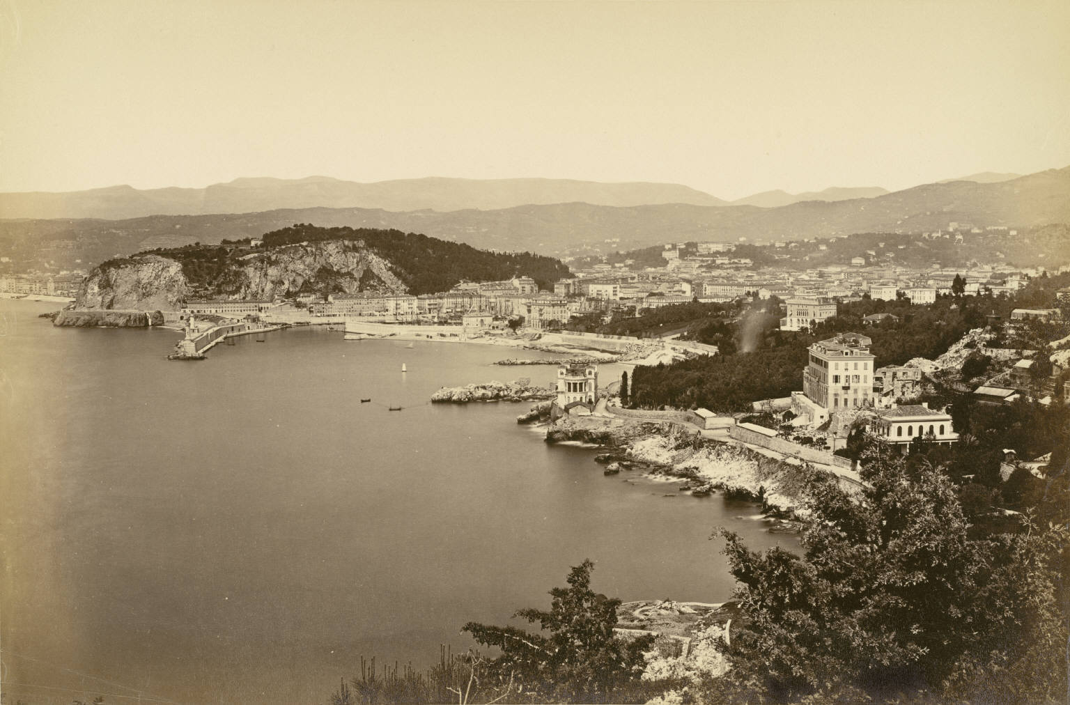 Old picture of Nice French Riviera