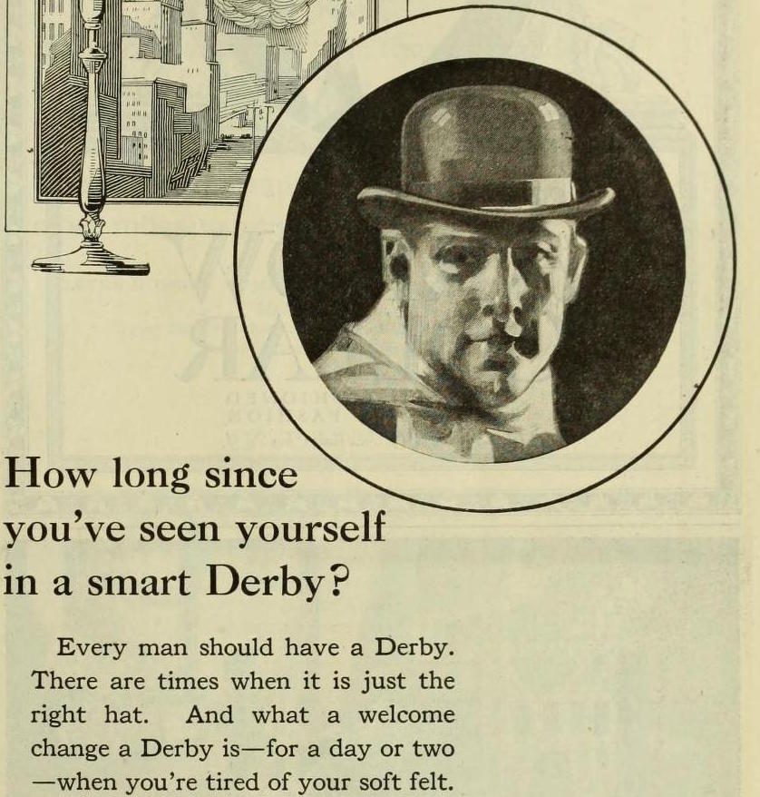 old vintage ads Mallory Derby Hat