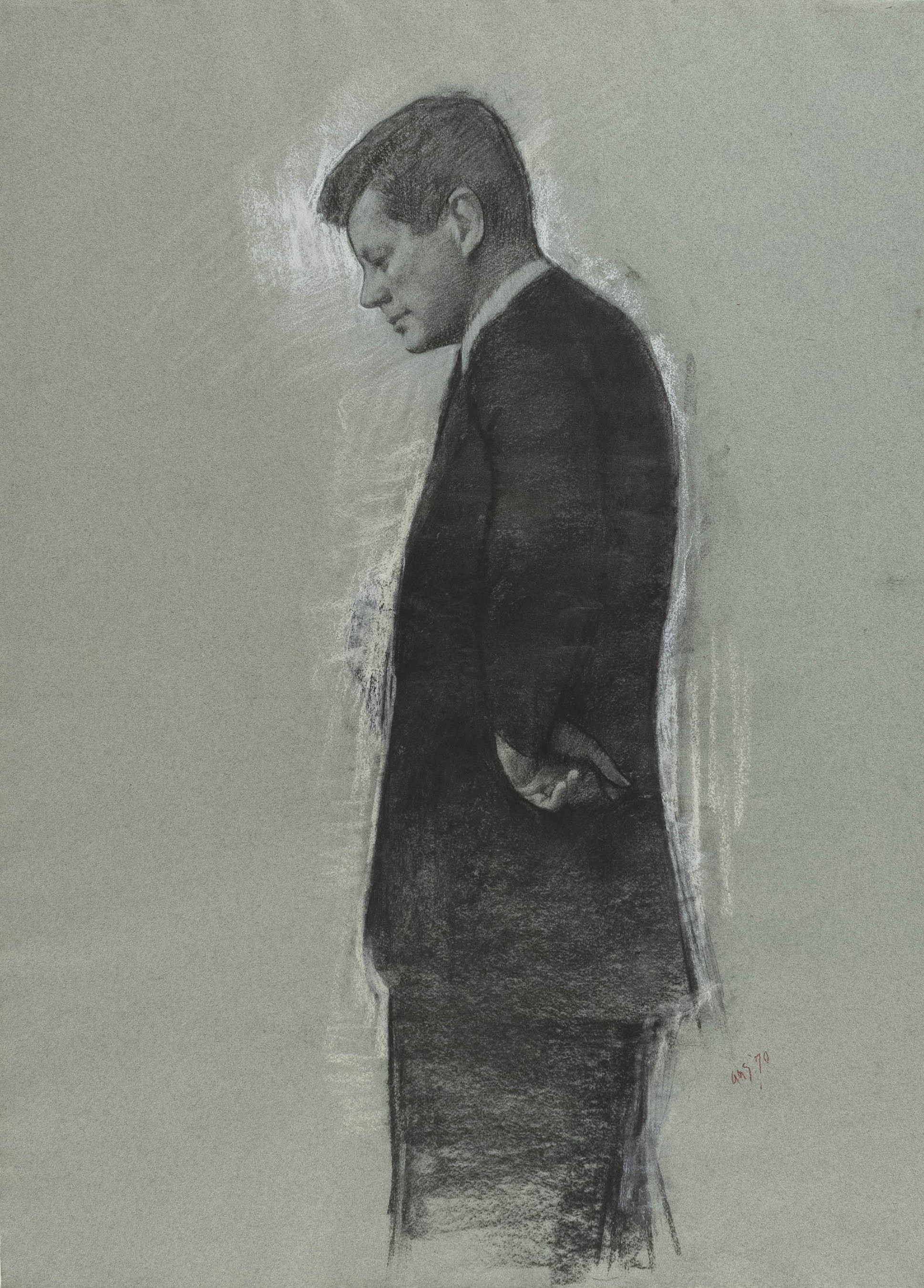 auctions paintings illustrations JFK