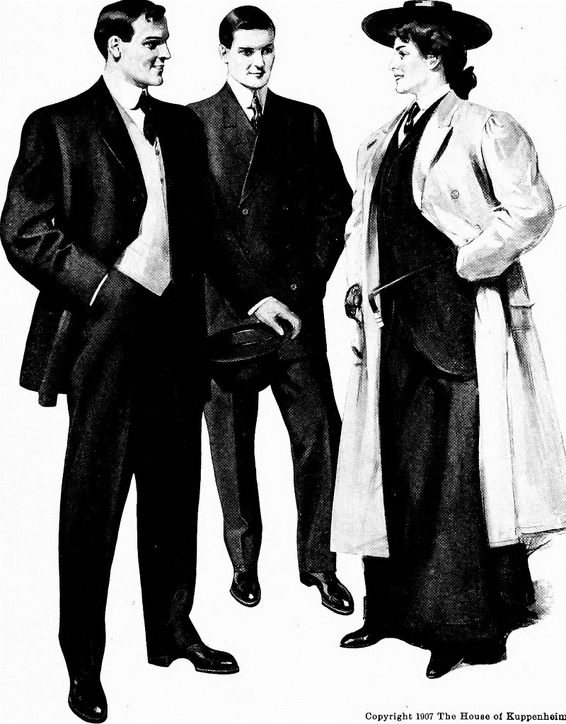 mens fashion in the beginning of last century