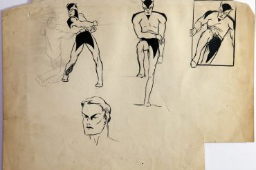 original Batman drawings from year 1932 for sale