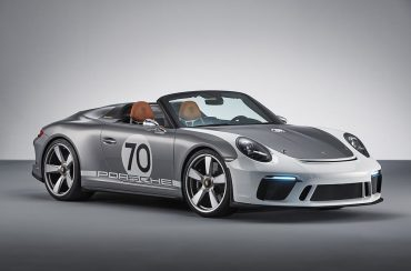 Porsche 70 years anniversary sports car