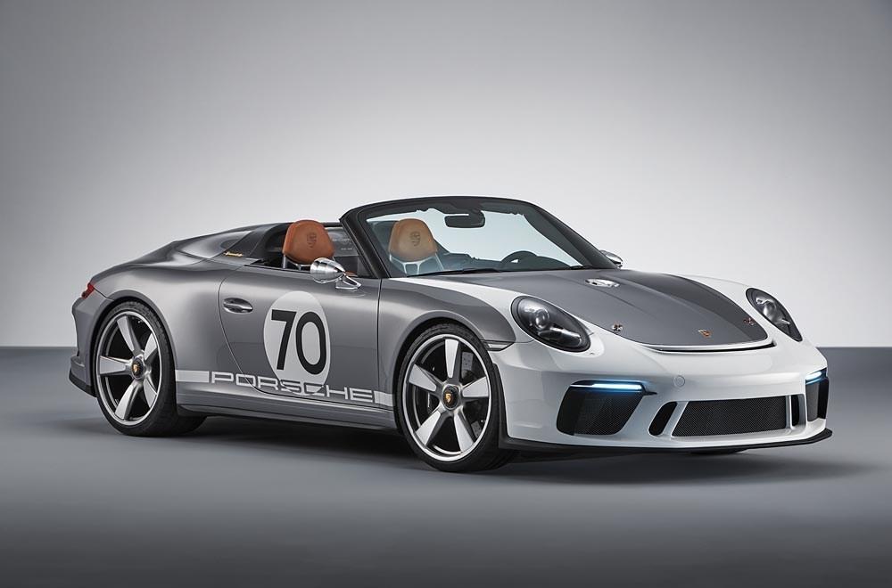 Porsche 70 years anniversary sports car