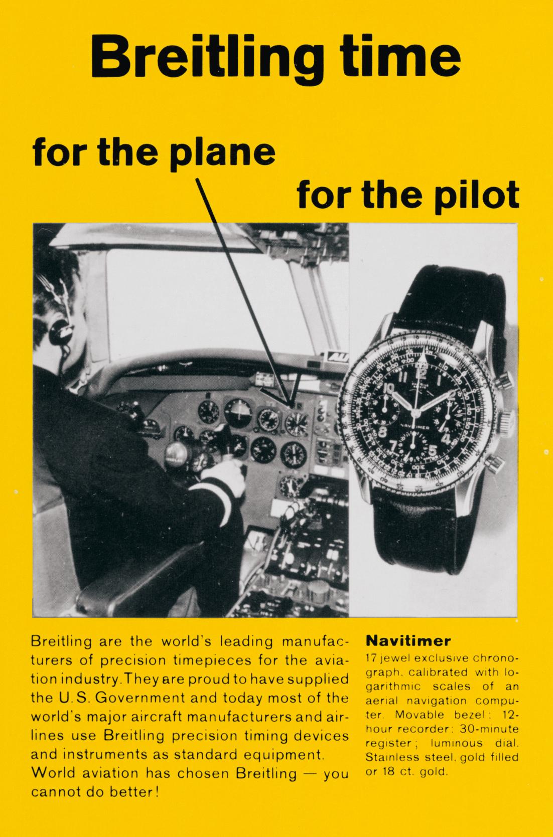Breitling Navitimer vintage ad