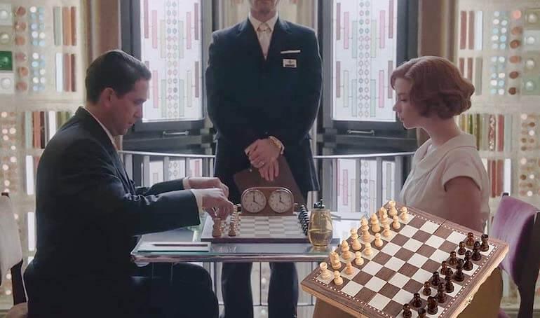 chess set in the queen's gambit