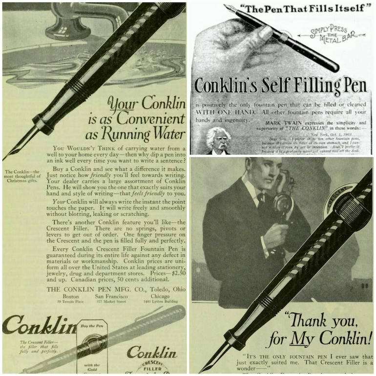 old ads for fountain pens