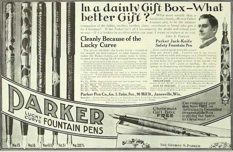 Parker pen old ad