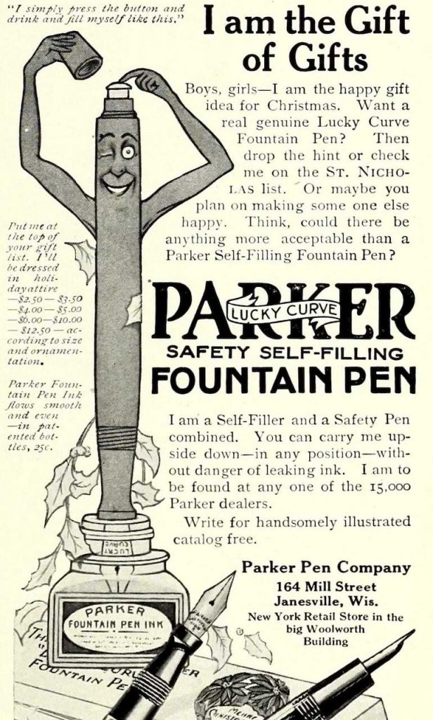 old ad from Parker pens