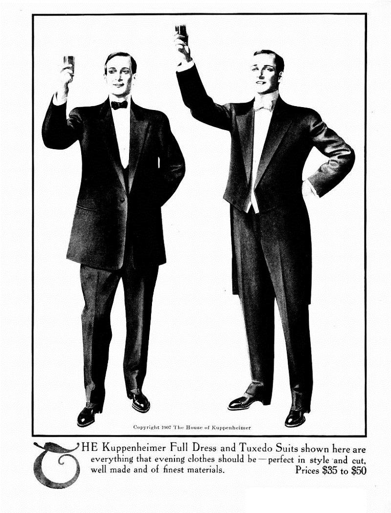 mens fashion beginning of last century