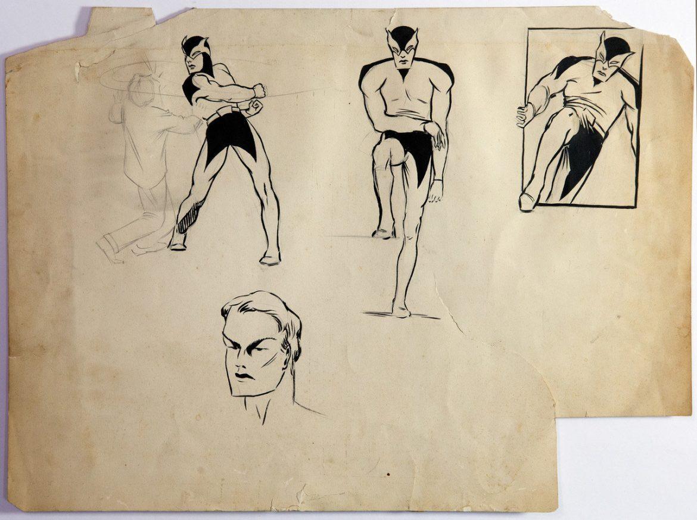 original Batman drawings from year 1932 for sale