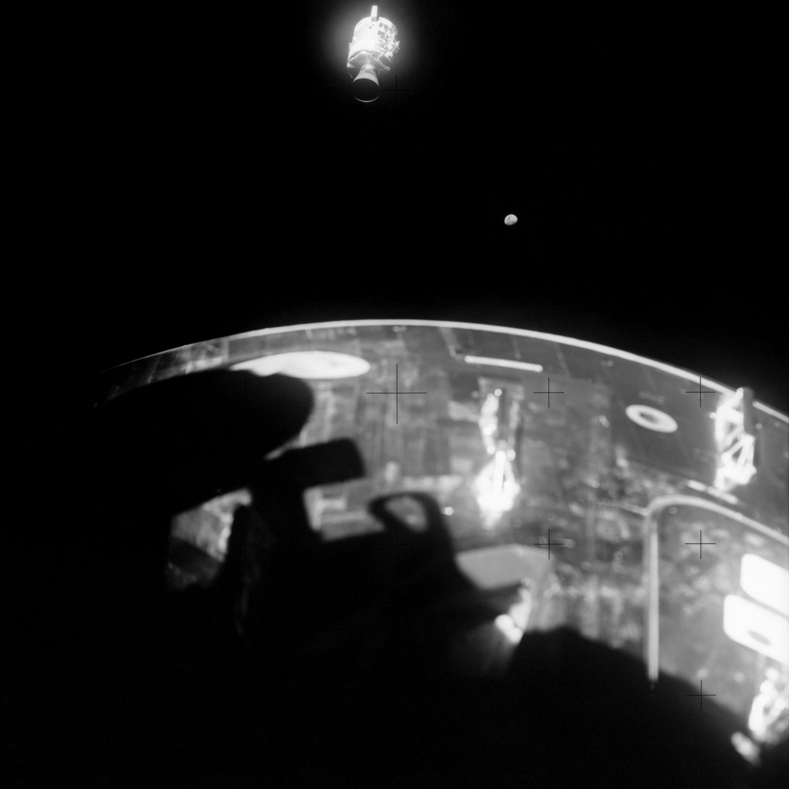 View of damaged Apollo 13 service module