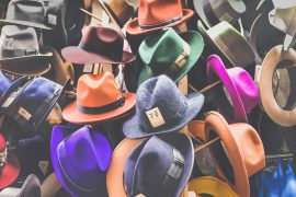 colourful fedora